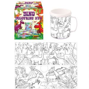Dinosaur Colouring Mug - Colour Your Own Arts & Crafts